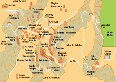 Map of Petra